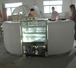 Cafeteria Shop Bar Furniture Countertop White Half Round Corian Marble Cafe Counter pictures & photos