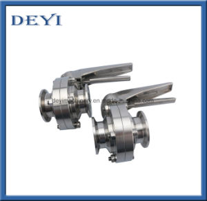Stainless Steel Tri Clamp Butterfly Valve with Controller C-Top pictures & photos