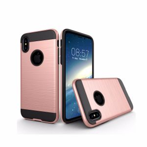 Brushed Style Luxury Hybrid Wire Drawing Back Cover Case for iPhone 8 pictures & photos
