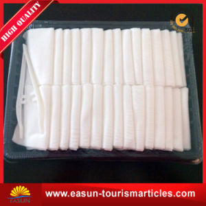Disposable Cotton Hot Airplane Towels for Airline pictures & photos