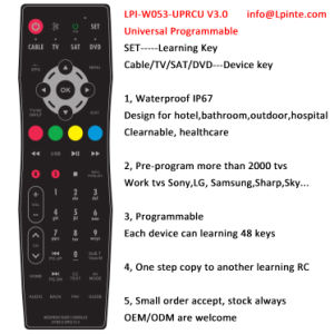 DVD Universal Remote Control IP67 Sat Cable pictures & photos