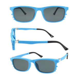 UV400 Flexible Hinge Clips on Magnetic Sunglasses for Kids Student pictures & photos