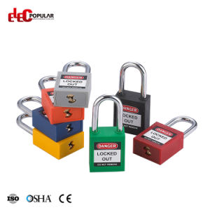 38mm Stainless Steel Shackle Safety Padlock with Colorful Bodies