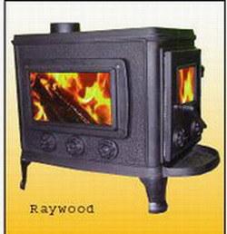 Cast Iron Wood Burning Stove (RAYWOOD DELUXE)