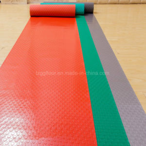 Commercial Anti-Slip Roll Type PVC Flooring Coined pictures & photos