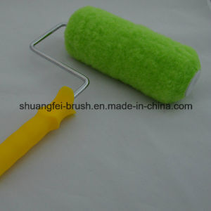 "Best Quality 9"" 24mm Pile Green Polyester Paint Roller with 44mm 9"" *5 Wire Roller Handle pictures & photos"