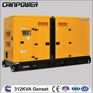 312kVA 250kw Silent Diesel Generator Set with Cummins Engine Nta856-G1b