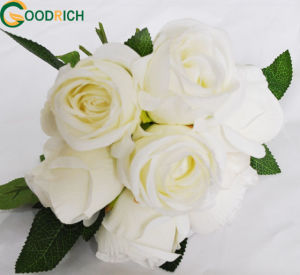 Soft Touch Single Stem Rose Silk Flower pictures & photos