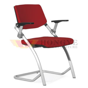 High Quality Comfortable Stainless Steel Armrest Meeting Room Folding Office Fabric Training Chair pictures & photos