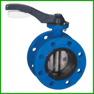 Lever Double Flange Butterfly Valve-Rubber Seal Butterfly Valve pictures & photos