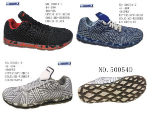 No. 50054 Three Colors Big Size Men′s Sport Stock Shoes pictures & photos