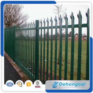 Powder Coated Security Iron Fence / Galvanized Steel Anti-Climb Fencing pictures & photos