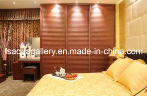Classic Solid Wood Wardrobe with Sliding Door (AGW-013)