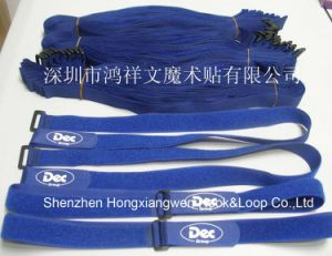 Nylon Custom Logo Hook and Loop Strap (HXW-C19)