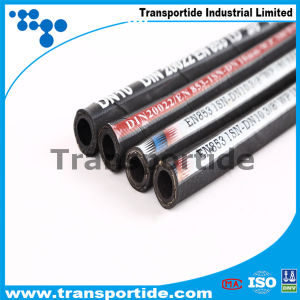 China Steel Wire Braided Flexible Rubber Hydraulic Hose pictures & photos