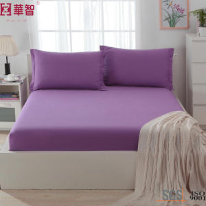 Polyester Solid High Depth Fitted Sheet Set pictures & photos