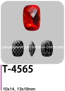 Crystal Glass Fancy Loose Point Back Classical Baguette Rectangle Jewelry Garment Accessory Parts Stone Bead (T-4565)