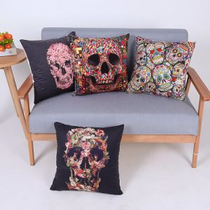 Digital Print Decorative Cushion/Pillow with Skulls Pattern (MX-95) pictures & photos
