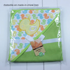 Promotionals 100% Cotton Baby Swaddle Blanket Hooded Poncho pictures & photos