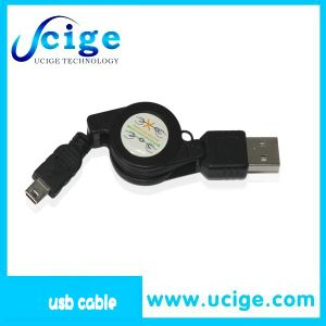 Retractable Mobile Phone Charger Mini USB Cable, Ucige USB Cable for E Cigarettes