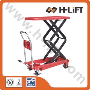 American Type Hydraulic Manual Scissor Lift Table pictures & photos