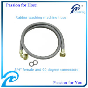 Rubber Washing Machine Hose with Female 90 Degree Elbow Connector pictures & photos