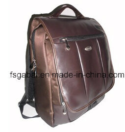 """Customized 14"""" Brown PU Laptop Backpack Bag pictures & photos"""