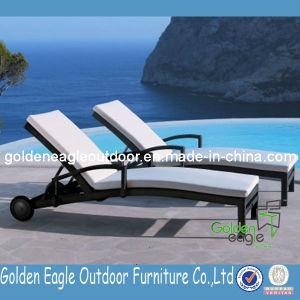 Outdoor Garden Furniture Sun Lounger with Wheel