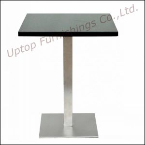 Durable Steel Base Restaurant Marble Dining Table (SP-RT130) pictures & photos