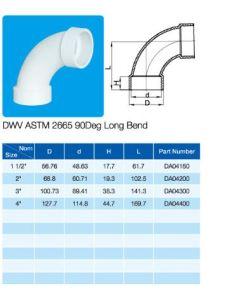 Long Bend 90deg Elbow ASTM Dwv D2665 NSF Certificate pictures & photos