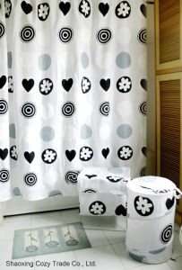 Waterproof Polyester Shower Curtain pictures & photos