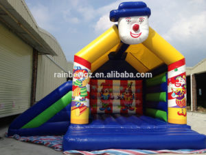 2016 Popular Inflatable Happy Clown Bouncer with Slide for Kids pictures & photos