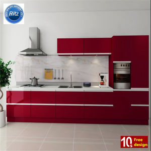 European Style Kitchen Cabninet High Glossy House Furniture Lacquer Cabinet pictures & photos