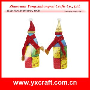 Christmas Decoration (ZY16Y172-3-4 26X15CM) Christmas Wine Store Display Christmas Wine Bottle Decoration pictures & photos