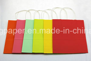 Hot Sale Kraft Solid Color Paper Bag pictures & photos