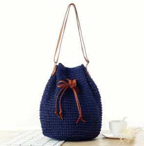Paper Straw Long Shoulder Bags with Natural Color pictures & photos