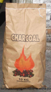 BBQ Bqriquitte Customized Printing Brown Kraft Charcoal Paper Bags pictures & photos