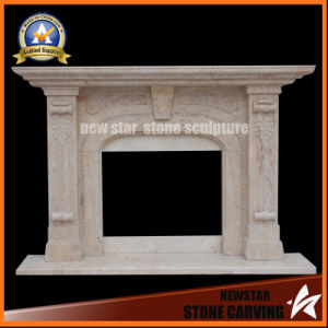Stone Carving Marble Fireplace Surround Freestanding Fireplace Mantel pictures & photos