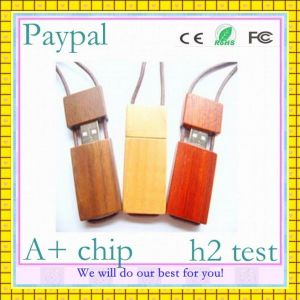 Engraving Logo Wood USB Flash Drive (GC-E001) pictures & photos