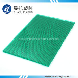 Four Colors Hollow Polycarbonate Roofing Panel with 50um UV Coating pictures & photos