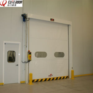 PVC Fabric Self Repairing Fast Acting Roller Shutter Doors pictures & photos