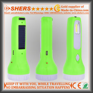 Solar Torch with 1W LED Flashlight, Reading Lamp, USB (SH-1929) pictures & photos