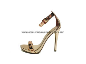 Stiletto Heel Lady Fashion Women High Heel Sandals with Simple Design pictures & photos