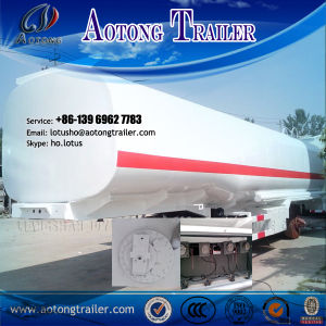 3 Axles 50cbm Stainless Steel Fuel Oil Tanker Semi Truck Trailer pictures & photos