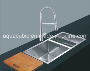 Upc Double Bowl Stainless Steel Handmade Kitchen Sink (ACS 3322A2) pictures & photos