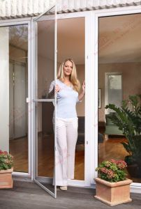 Stainless Steelwire Mesh Flyscreen Door for Entrance (BHN-CD06) pictures & photos