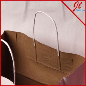 White / Kraft Versa Recycled Handle Bags Solid Kraft Gift Bags pictures & photos