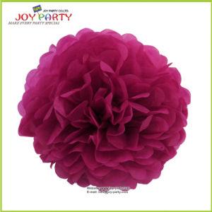 Purple Paper POM Poms for Wedding Valentine′s Day Decoration pictures & photos