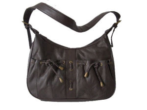 Brown Cowhide Leather Handbag (DS366267-1)