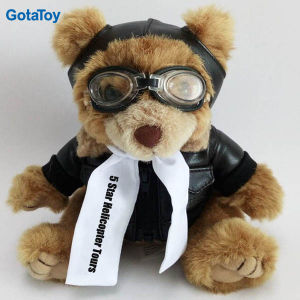 Custom Plush Toy Aviator Teddy Bear in Pilot Uniform pictures & photos
